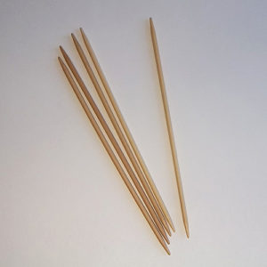 "7"" dpn bamboo knitting needles"
