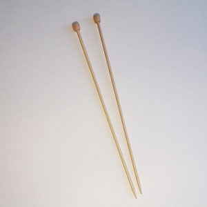 "9"" single point bamboo knitting needles"